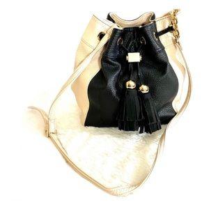 Deux Lux 2 Tone Bucket Drawstring Shoulder Bag